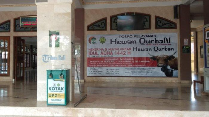 Dampak Pandemi, Jumlah Qurban Kambing di Masjid Agung Al-A'la Gianyar Menurun