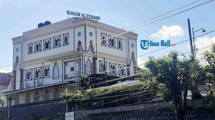 Sejarah Masjid Al Furqon di Padangsambian Denpasar Bali, Dibangun Sejak 1987 dan di Lokasi Tertinggi