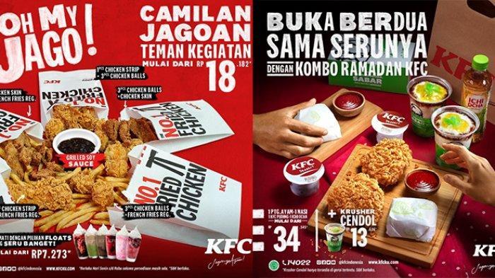 Mau Buka Puasa Apa Hari Ini? Cek Promo KFC 18 April 2021, Cuma Rp59.091 Bisa untuk Bareng-bareng