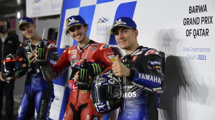 Link Live Streaming MotoGP Qatar 2021: Murid Rossi Pimpin Balap, Duo Yamaha Membuntuti