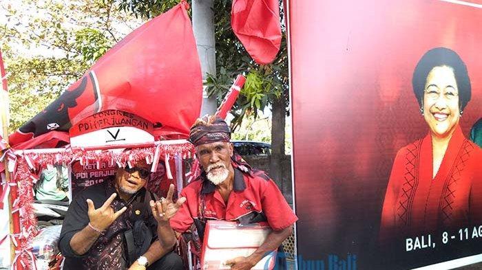 Kayuh Becak dari Surabaya Ikut Kongres di Bali, Mbah Kirman: Pejah Gesang Nderek Bung Karno Bu Mega