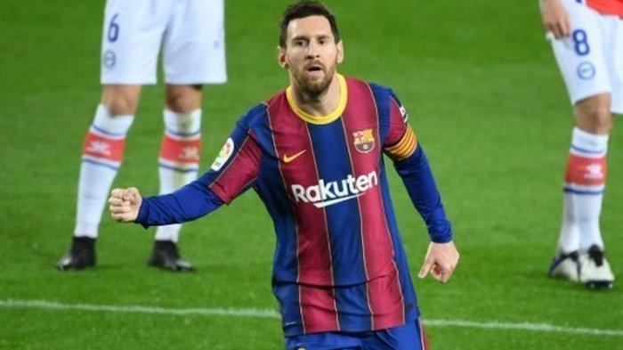 Barcelona Vs Alaves, Gol Indah Messi Kejar Jumlah Gol Suarez di Daftar Top Skor Liga Spanyol