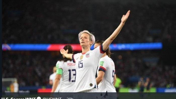 Putri Amerika Serikat Juara Dunia Lagi, Rapinoe Pemain Terbaik Raih Sepatu dan Bola Emas