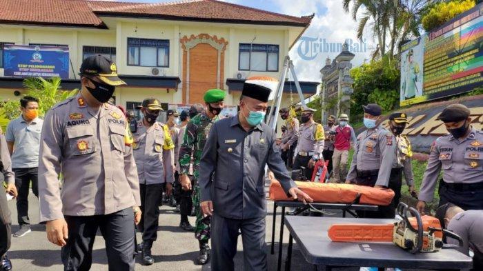 Ratusan Personel Gabungan Laksanakan Apel Kesiapsiagaan Bencanadi Bangli