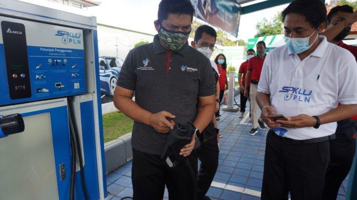 Memasyarakatkan Electrifying Lifestyle, PLN bersama Dishub Bali Gelar Uji Coba Mobil Listrik