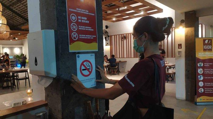 Memperingati Hari Tanpa Tembakau Sedunia, Central Udayana Lakukan Pembinaan ke Restoran