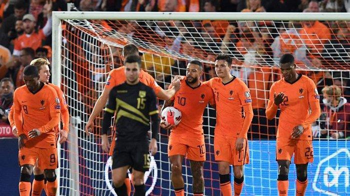 Hasil Lengkap Kualifikasi Piala Dunia 2022, Belanda Cukur Gibraltar 6-0