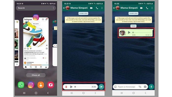 Cara mendengarkan isi voice note di WhatsApp sebelum dikirim sebagai pesan