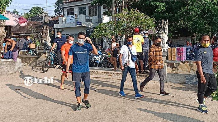 Menparekraf Temui Warga Tak Pakai Masker, Saat Sandiaga Jogging Pagi di Green Zone Sanur Bali