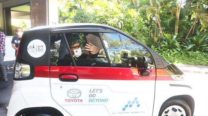 Menparekraf Sandiaga Uno Dukung Penggunaan Mobil Ramah Lingkungan di Kawasan Nusa Dua Bali