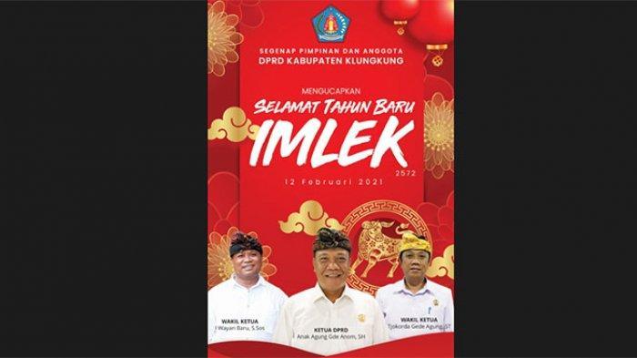 DPRD Kabupaten Klungkung Mengucapkan Selamat Tahun Baru Imlek 2572