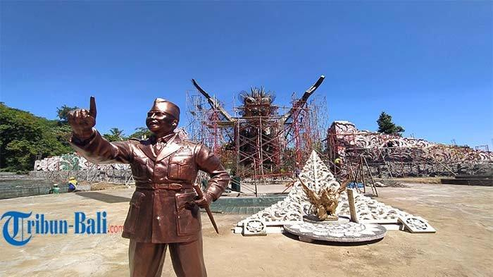 Progres Pembangunan RTH Bung Karno Buleleng, Patung Bung Karno Ditargetkan Dipasang September 2021