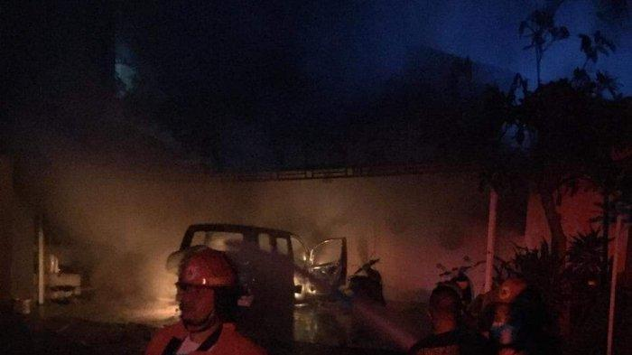 Konsleting Listrik, Mobil dan Motor Milik Mulyadi Hangus Dilahap Api di Sanur Bali