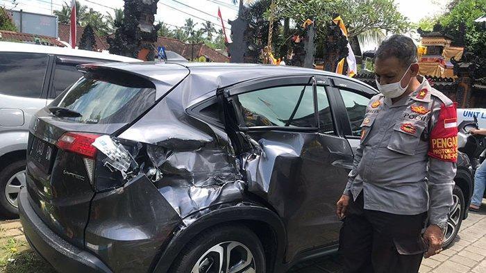 Tabrakan Beruntun di Jalan Raya Denpasar-Gilimanuk, Truk Fuso Alami Rem Blong Lalu Tabrak 3 Mobil