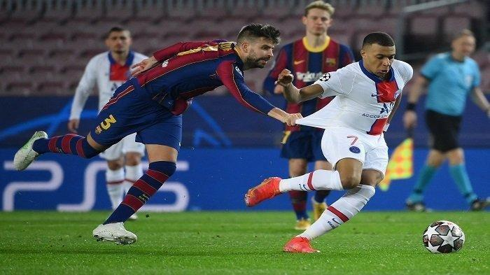 Nasib Sial Barcelona di Liga Champions: Mbappe Menggila dengan 3 Gol dan Cekcok Pique vs Griezmann