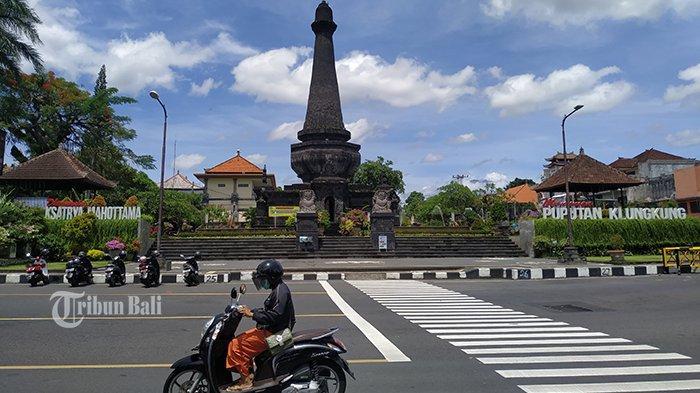 Monumen Puputan Klungkung, Senin (21/12/2020). Monumen tersebut akan ditutup jelang pergantian tahun, karena kerap menjadi titik keramaian.