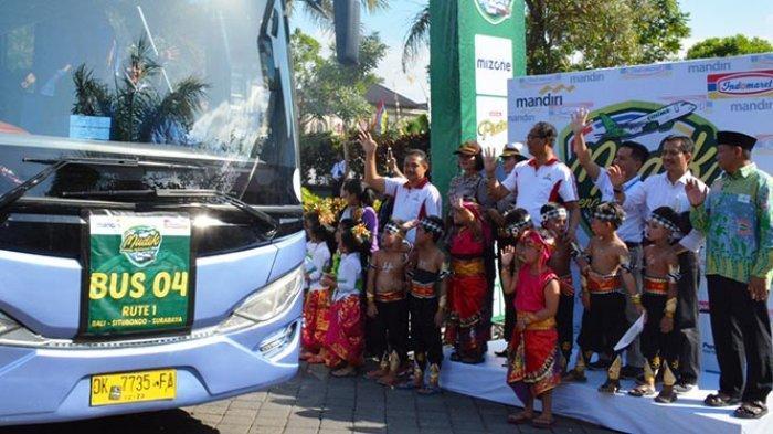 Wabup Suiasa Lepas 590 Peserta Mudik bersama Indomaret di Puspem Badung.