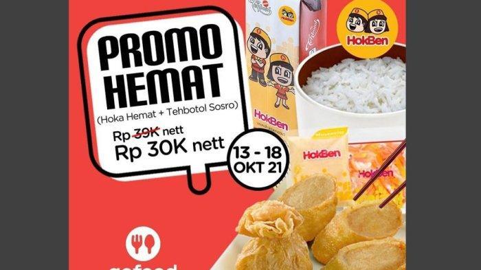 Hingga 18 Oktober 2021, Promo Hemat dan Special Price HokBen, Hoka Hemat + Teh Botol Sosro Rp30 Ribu