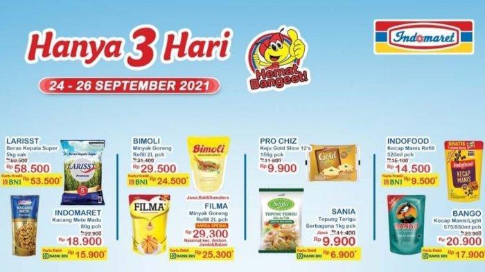 MURAH MERIAH, Promo Beras Minyak Goreng hingga Deterjen di Alfamart & Indomaret 24-26 September 2021