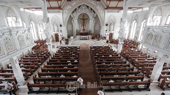Bertepatan dengan Hari Raya Nyepi, Gereja Katolik Katedral Denpasar Bali Majukan Jadwal Misa