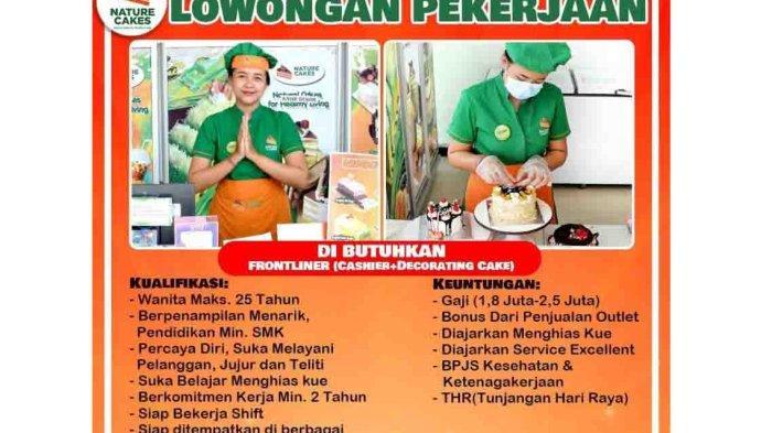 Lowongan Kerja SMK di Denpasar, Nature Cakes Membutuhkan Frontliner Bagian Kasir dan Dekorasi Kue