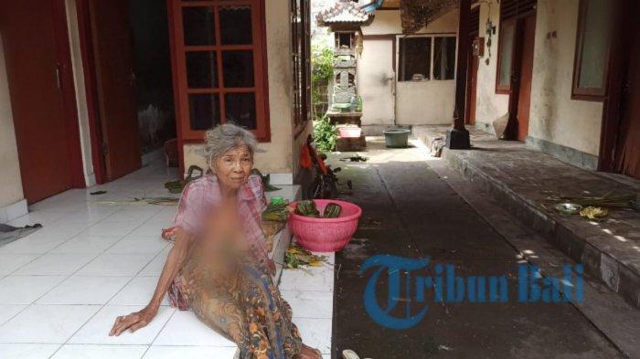 Kisah Pilu, Ketut Puji Tinggal Seorang Diri di Kerobokan Badung dengan Kondisi Rumah Rusak Berat