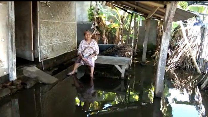Nenek Aminah Hidup Sebatang Kara dan Derita Diabetes, Rumah Bedeknya di Jembrana Bali Kebanjiran
