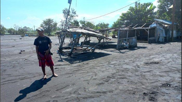 Warung hingga Lahan Pertanian Warga di Pesisir Karangdadi Klungkung Rusak Diterjang Air Laut Pasang