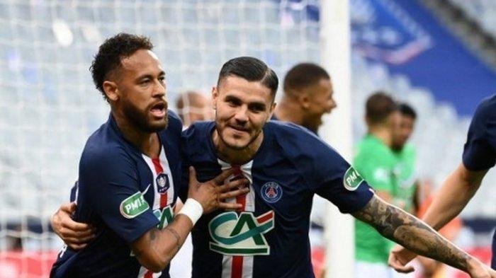 Mauro Icardi danNeymarBawa PSG Juara Piala Super Prancis, Benamkan Marseille 2-1