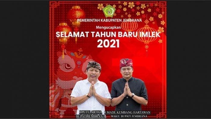 Pemerintah Kabupaten Jembrana Mengucapkan Selamat Tahun Baru Imlek