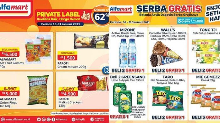 Promo Alfamart Spesial Minuman dan Snack, Private Label Diskon Hingga 62%, Beli 2 Gratis 1