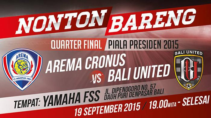 Nobar Tim Bali United Yuk, Berikut Lokasinya, Banjir Hadiah Juga