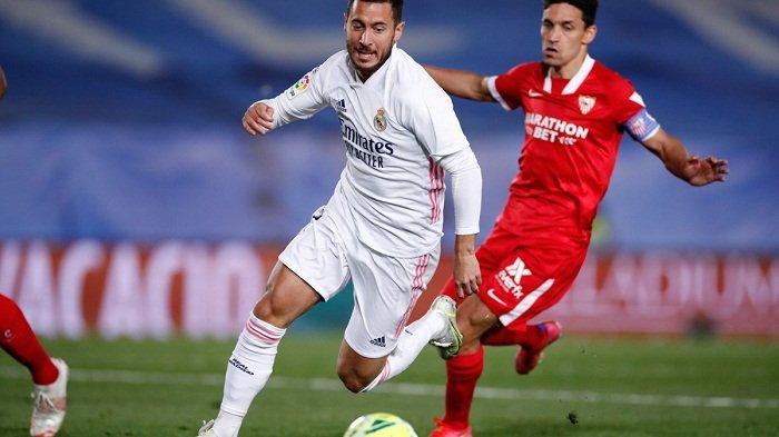 Nyaris Kalah dari Sevilla, Hazard Jadi Penyelamat Real Madrid, Asa Gelar Juara LaLiga Belum Sirna