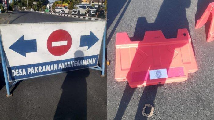 Nekat Buka Paksa Barrier Traffic Cone Penyekatan di Denpasar, Seorang Pria Diamankan Polisi