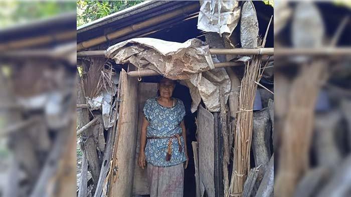 VIRAL: Tak Mau Beratkan Anaknya, Odah Sari Tinggal di Gubuk Reot Tanpa Penerangan Selama 8 Tahun