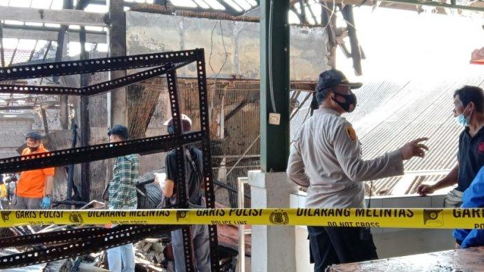 UPDATE: Kebakaran di Pasar Adat Lelateng Jembrana, Polisi Gelar Olah TKP