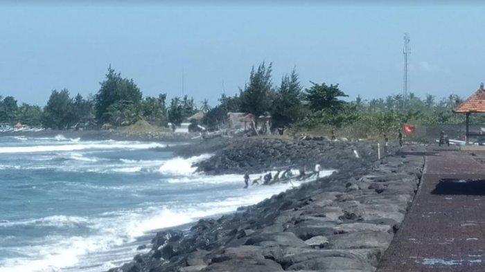 Ombak Ganas di Pantai Lebih Gianyar, BPBD Gianyar Sebut Tidak Ada Kerusakan