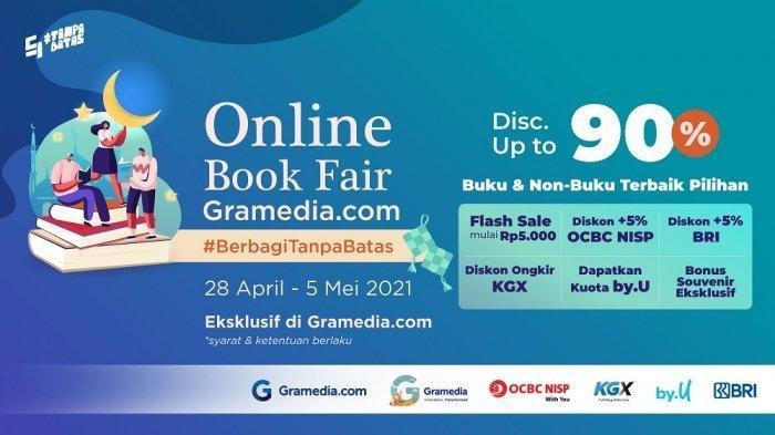 Online Book Fair Gramedia.com Berikan Diskon Hingga 90% dan Diskon Ongkir Seluruh Indonesia