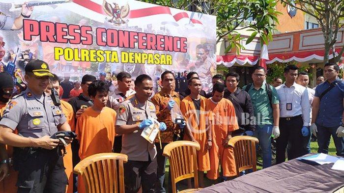Polresta Denpasar Amankan 8 Pelaku Curat hingga Curanmor saat Operasi Pekat Agung 2019