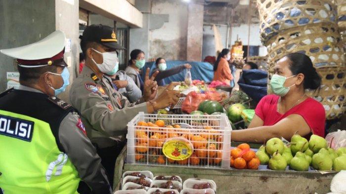 Pasar Satria Denpasar Disasar Polresta Denpasar Dalam Rangka Ops Keselamatan Agung 2020