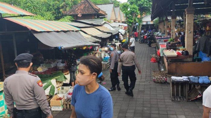 Usai Perayaan Nyepi 2021, Petugas Kembali Sidak Prokes di Pasar Biaung Denpasar