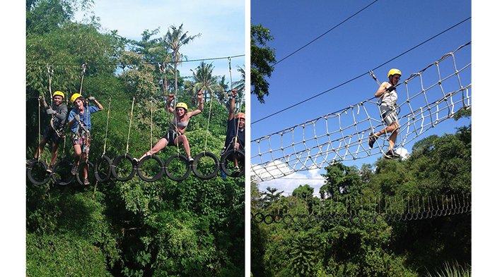 Dua Jam Jadi Ninja Warrior, Pacu Adrenalin di Rangkung Hill Desa Lebih Gianyar