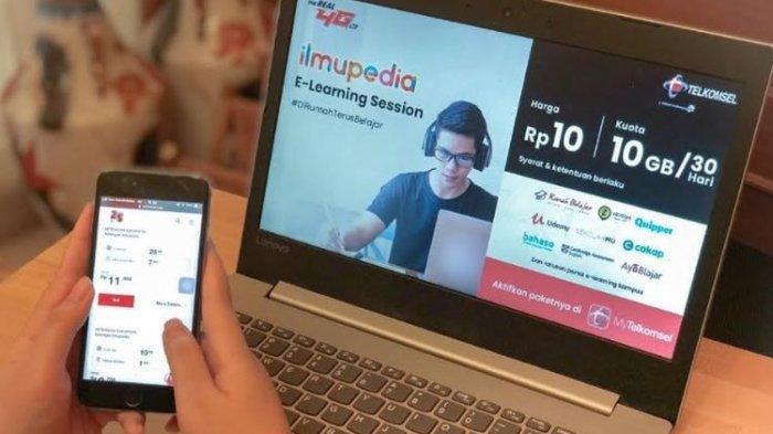 Cara Mendapatkan Paket Data Telkomsel 10 GB Rp 10 untuk Belajar Online Selama 30 Hari