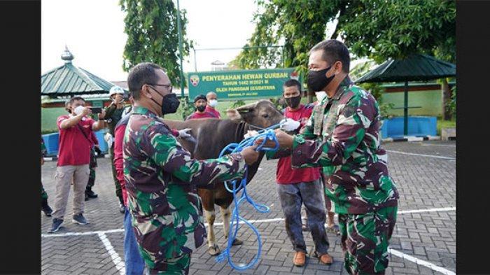 Hari Raya Idul Adha, Kodam IX/Udayana Sembelih 39 Hewan Kurban dan Bagikan 1.620 Kantong Daging