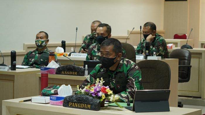 Pangdam IX/Udayana Ikuti Rapim TNI dari Makodam, Bahas Isu Covid-19 hingga Stabilitas Negara