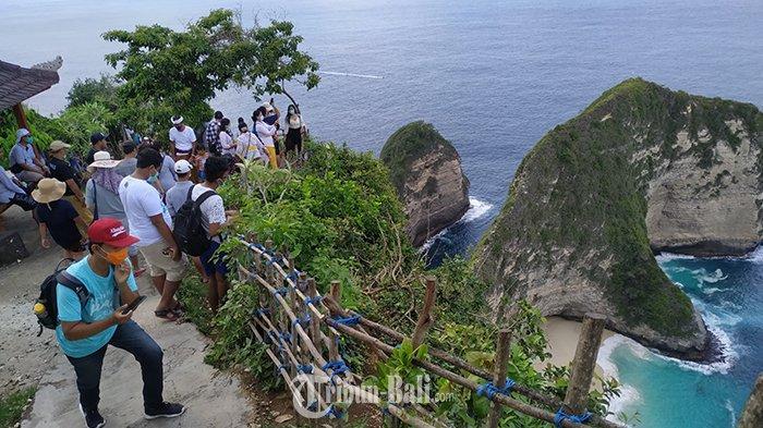 Pariwisata Nusa Penida Mulai Bangkit, Ratusan Wisdom Berkunjung ke Pantai Kelingking Saat Weekend