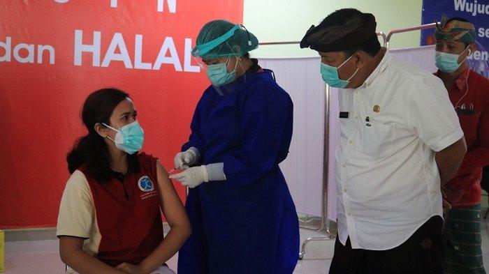 Vaksinasi Covid-19 Tahap Pertama Nakes Jembrana Ditarget Selesai Hari Ini
