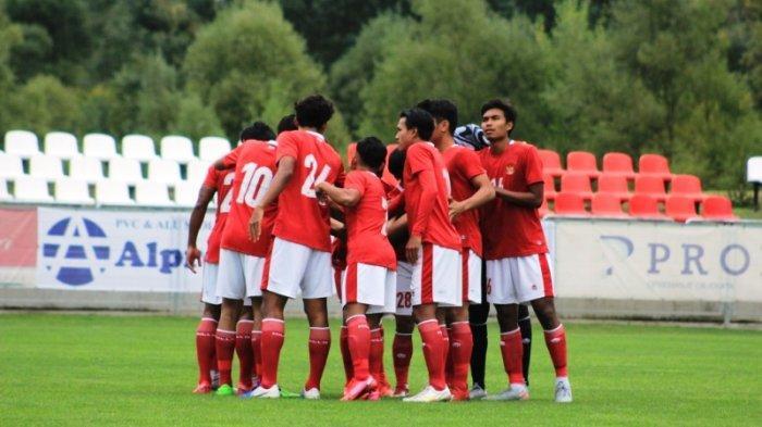 Hasil Babak 1, Timnas U-19 Indonesia Unggul 1-0 atas Makedonia