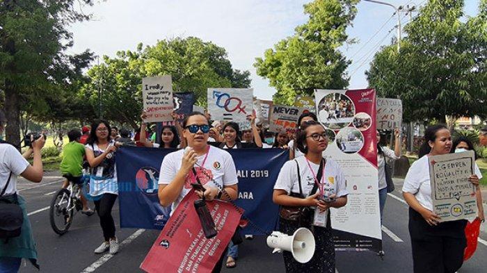 Women's March Bali Soroti Akses Kesehatan Kaum Minoritas dan Penyitas ODHA