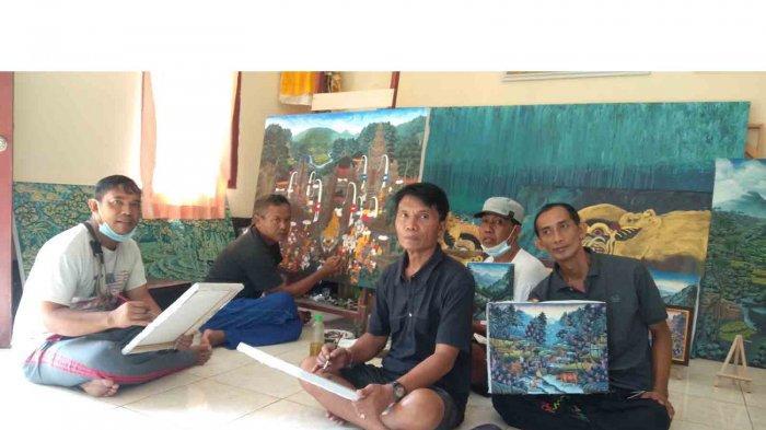 Cerita Para Pelukis Banjar Kutuh Gianyar, Pertahankan Style Young Artist di Tengah Krisis